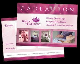 Cadeaubon Beauty in Harmony - originele cadeau tips en ideeën